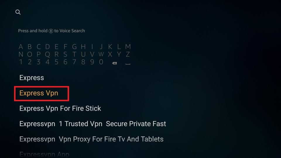 Amazon Firestick'e BBC Player VPN'i yükleyin